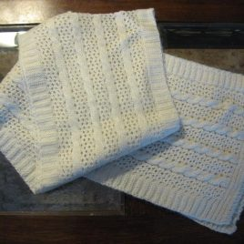 Cable and Lace Scarf
