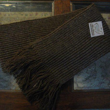 ribbed knit radar scarf